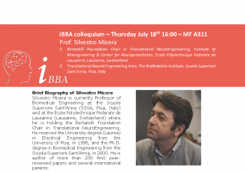 Colloquium – Prof. Silvestro Micera – Thursday July 18th – 16.00 MF A311