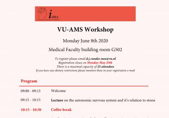 IBBA VU-AMS workshop – June 8th – 09.00-17.00